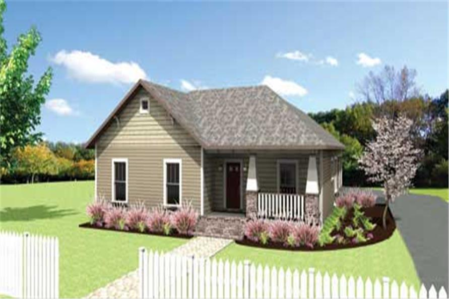 4-Bedroom, 1612 Sq Ft Country Home Plan - 123-1043 - Main Exterior