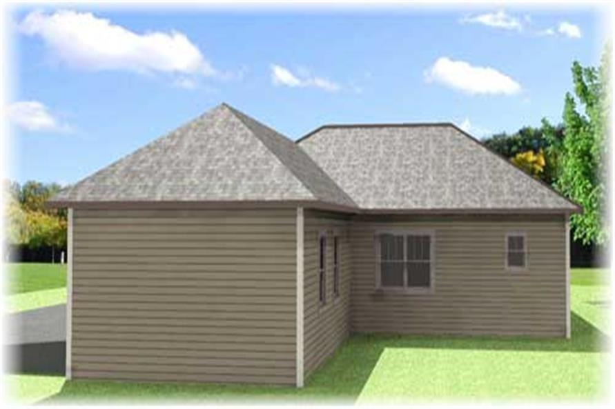 Home Plan 3D Image of this 4-Bedroom,1612 Sq Ft Plan -123-1043