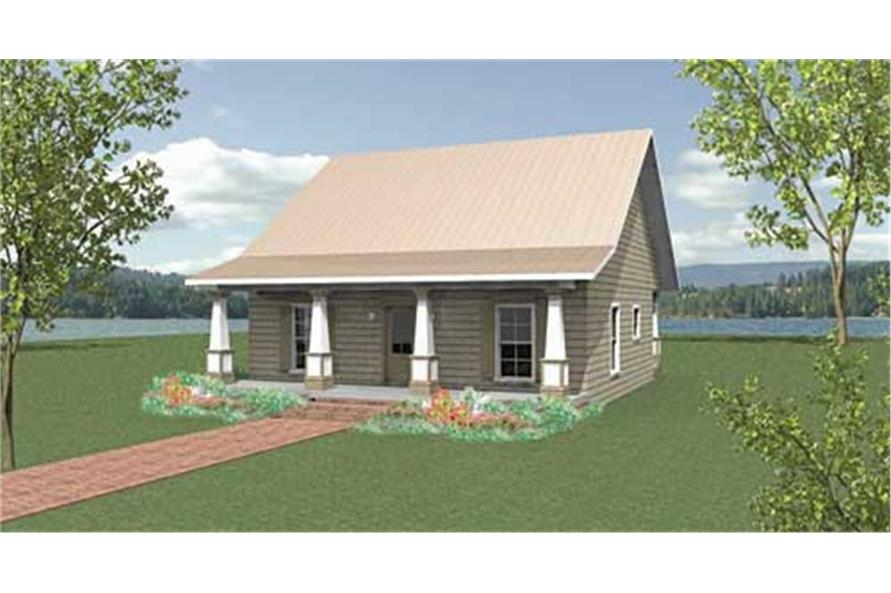 Home Plan Rendering of this 2-Bedroom,1122 Sq Ft Plan -123-1045