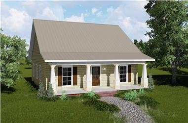 2-Bedroom, 1122 Sq Ft Country Home Plan - 123-1045 - Main Exterior