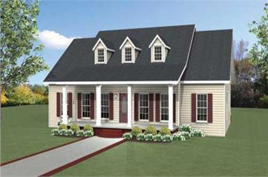 3-Bedroom, 1958 Sq Ft Cape Cod House Plan - 123-1046 - Front Exterior