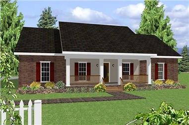 4-Bedroom, 1856 Sq Ft Country House Plan - 123-1048 - Front Exterior