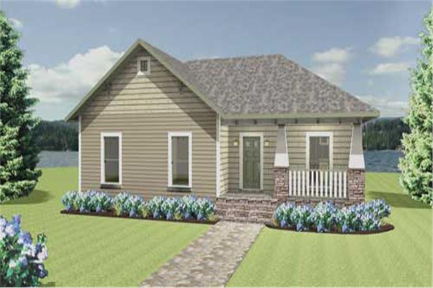 4-Bedroom, 1541 Sq Ft Country Home Plan - 123-1049 - Main Exterior