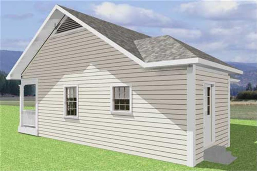 123-1050: Home Plan Right Elevation
