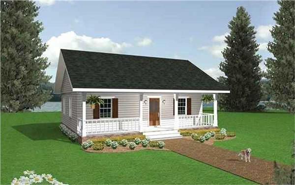 123-1050: Home Plan Rendering