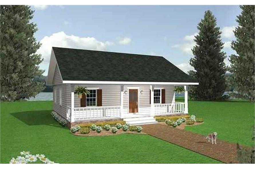 Home Plan Rendering of this 2-Bedroom,864 Sq Ft Plan -123-1050