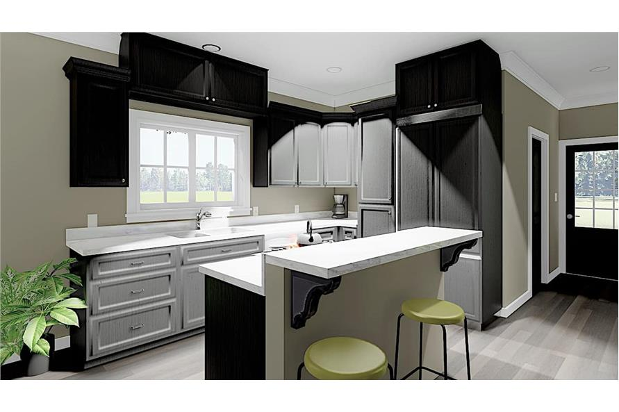 Kitchen of this 3-Bedroom,1785 Sq Ft Plan -123-1051