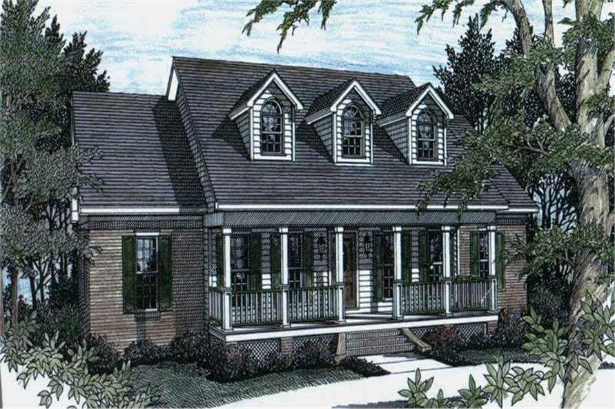 Front Elevation of this 3-Bedroom,1785 Sq Ft Plan -1785