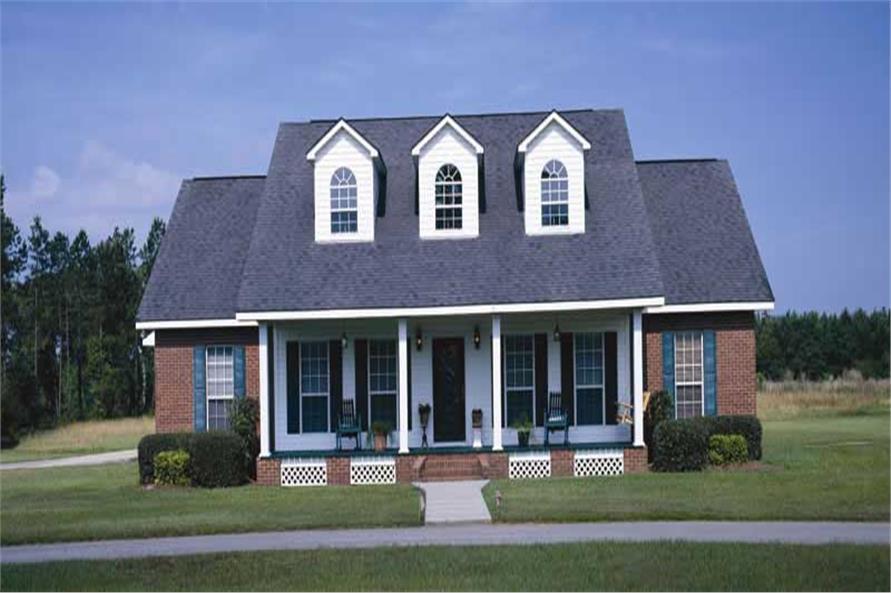 Farmhouse Plans color rendering.