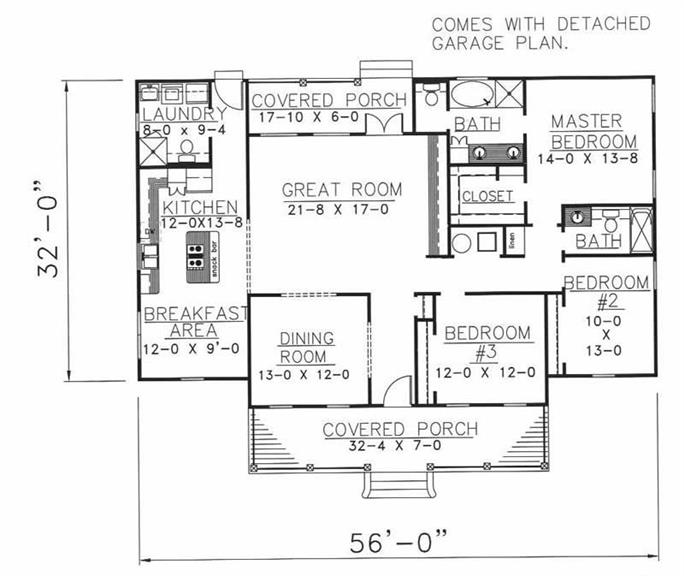 Country House Plan 3 Bedrms 25 Baths 1785 Sq Ft 1231051 – Farm House Floor Plan