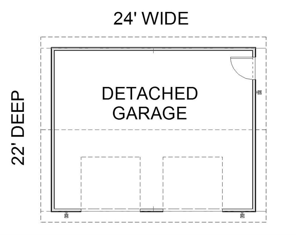 123-1052: Floor Plan Garage