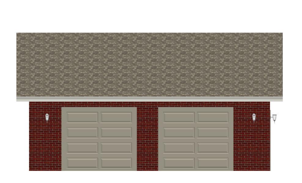 123-1052: Floor Plan Garage