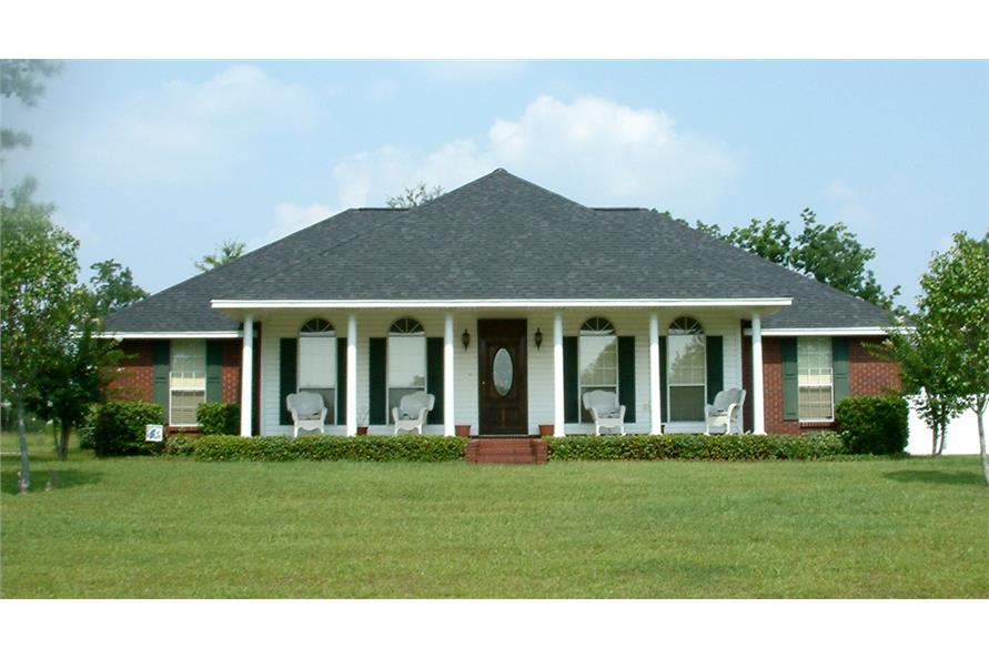 3-Bedroom, 1785 Sq Ft Country Home Plan - 123-1052 - Main Exterior