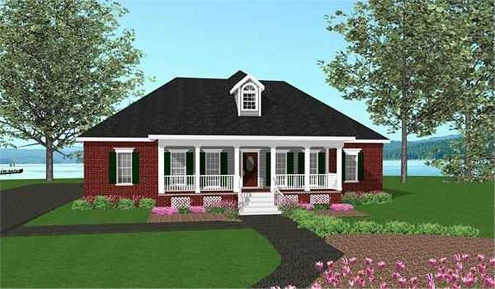 Home Plan Front Elevation for southern home plans # DH1785
