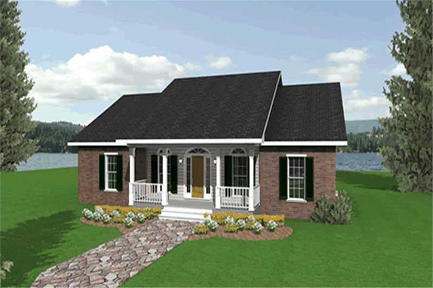 3-Bedroom, 1700 Sq Ft Country Home Plan - 123-1053 - Main Exterior