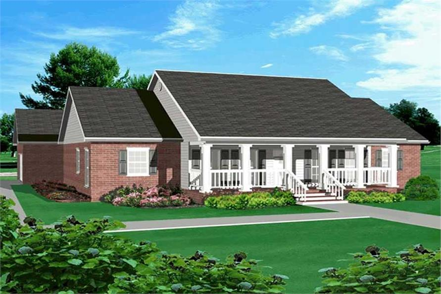 Home Plan Rendering of this 3-Bedroom,2214 Sq Ft Plan -123-1055