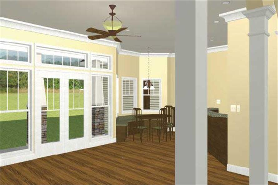 Home Plan 3D Image of this 4-Bedroom,2818 Sq Ft Plan -123-1056