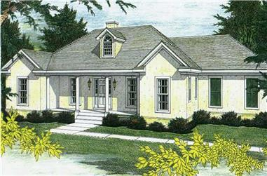 3-Bedroom, 2340 Sq Ft Country Home Plan - 123-1058 - Main Exterior