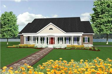 4-Bedroom, 2726 Sq Ft Country Home Plan - 123-1061 - Main Exterior