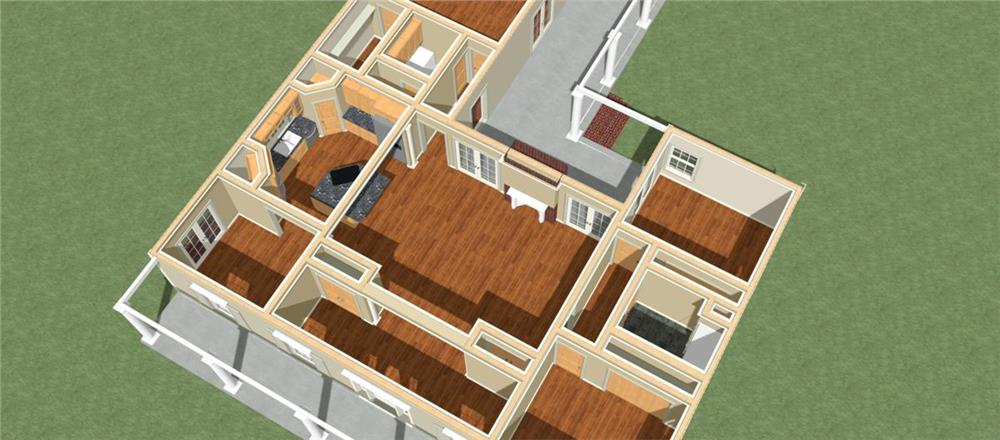 123-1062: Home Plan 3D Image
