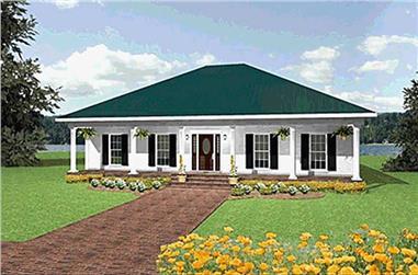 3-Bedroom, 2052 Sq Ft Farmhouse Home Plan - 123-1062 - Main Exterior