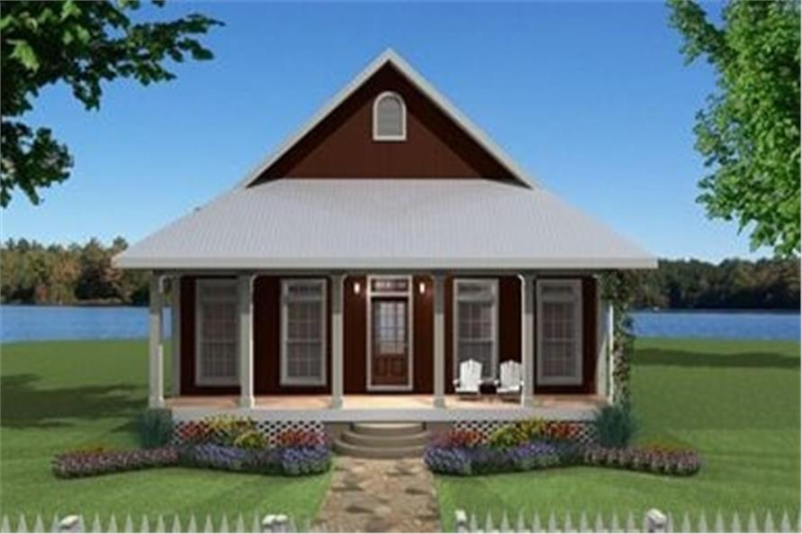 Front elevation of Country home (ThePlanCollection: House Plan #123-1063)