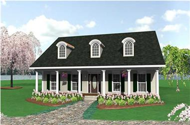 3-Bedroom, 2052 Sq Ft Southern Home Plan - 123-1064 - Main Exterior