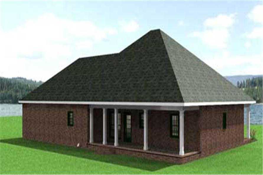 Home Plan Rear Elevation of this 3-Bedroom,2091 Sq Ft Plan -123-1065