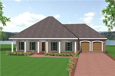 3-Bedroom, 2091 Sq Ft Ranch Home Plan - 123-1065 - Main Exterior