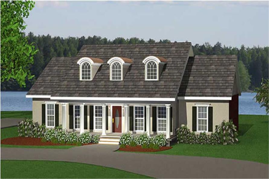 3-Bedroom, 2214 Sq Ft Country Home Plan - 123-1067 - Main Exterior