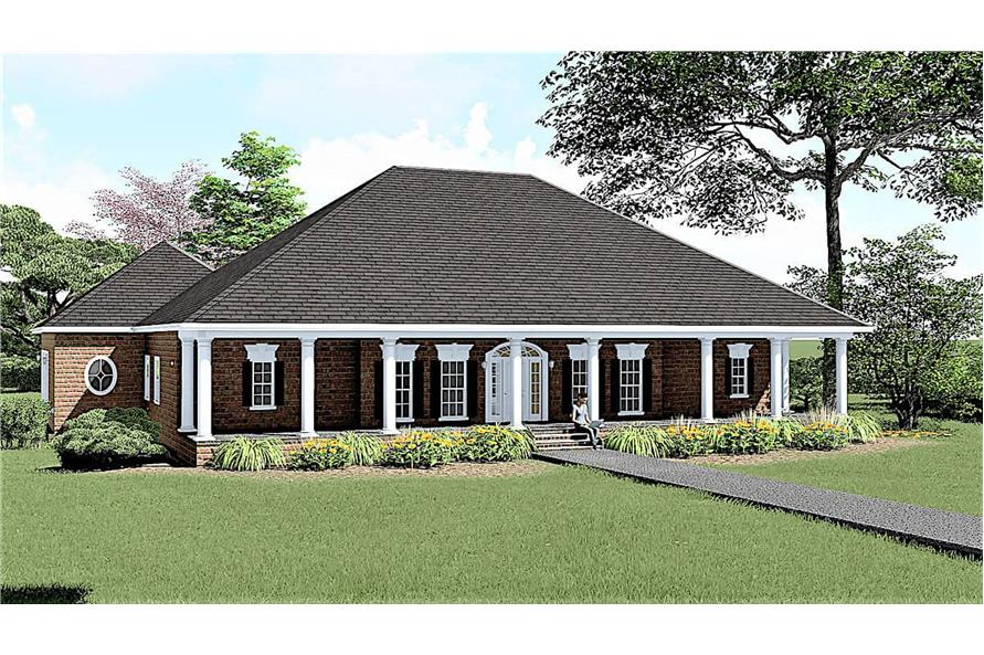 3-Bedroom, 2775 Sq Ft Southern Home - Plan #123-1069 - Main Exterior