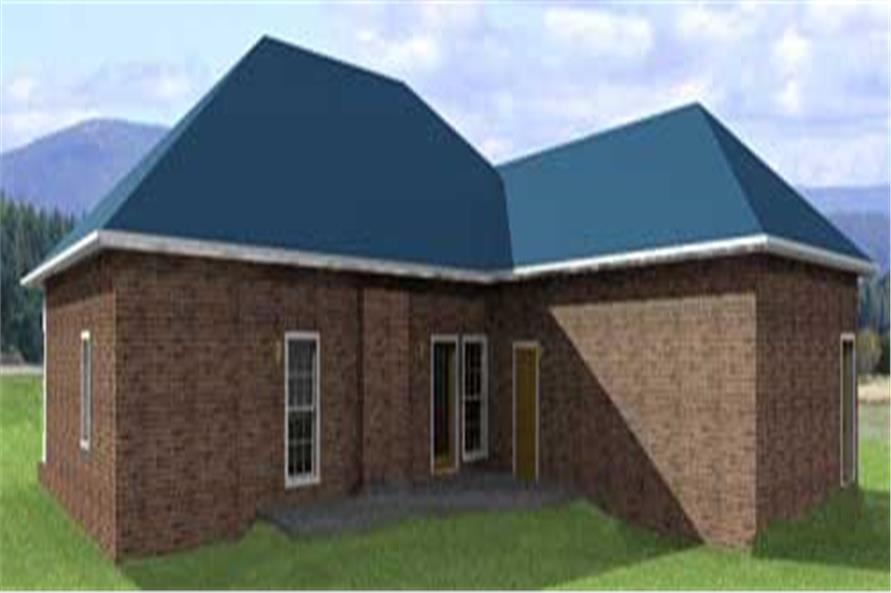 Home Plan Rear Elevation of this 4-Bedroom,1856 Sq Ft Plan -123-1070