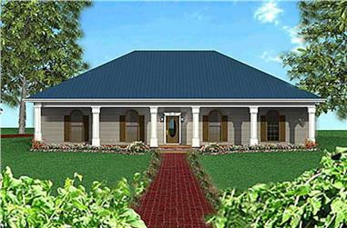 4-Bedroom, 1856 Sq Ft Southern Home Plan - 123-1070 - Main Exterior