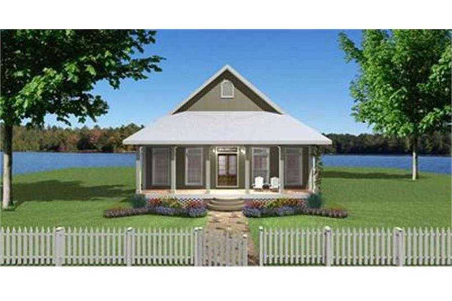 Home Plan Front Elevation of this 2-Bedroom,1292 Sq Ft Plan -123-1071