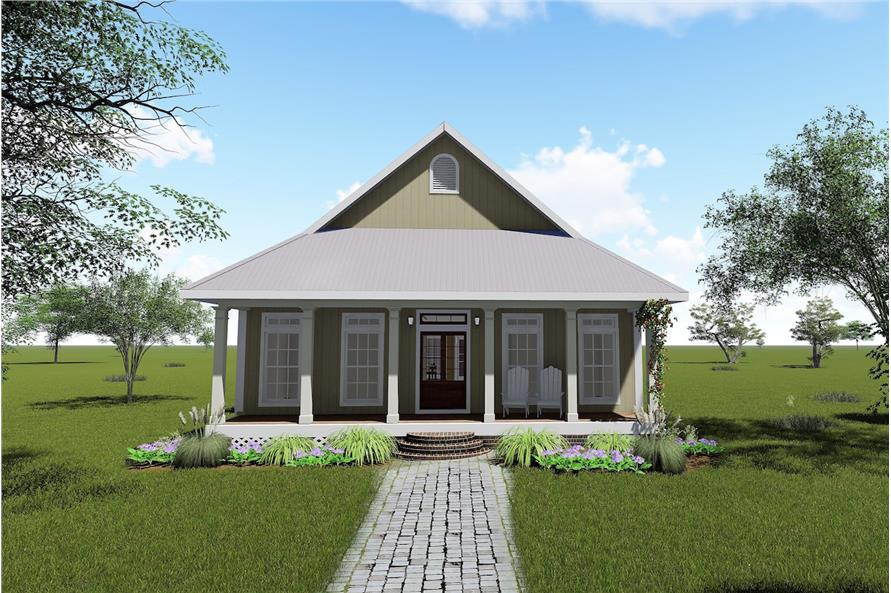 2-Bedroom, 1292 Sq Ft Bungalow House Plan - 123-1071 - Front Exterior