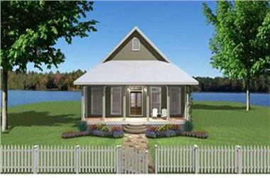 Front elevation of Country home (ThePlanCollection: House Plan #123-1071)