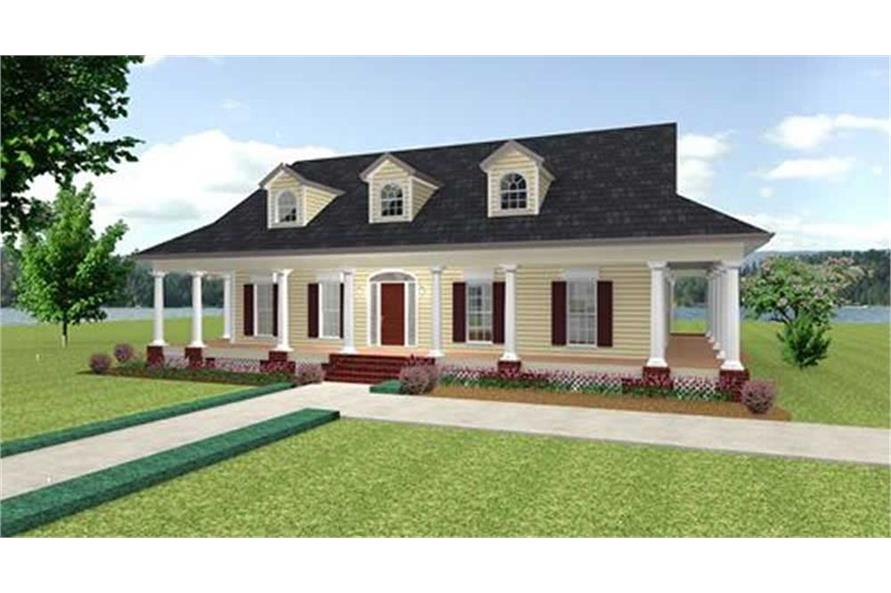 Home Plan Rendering of this 3-Bedroom,2123 Sq Ft Plan -123-1072