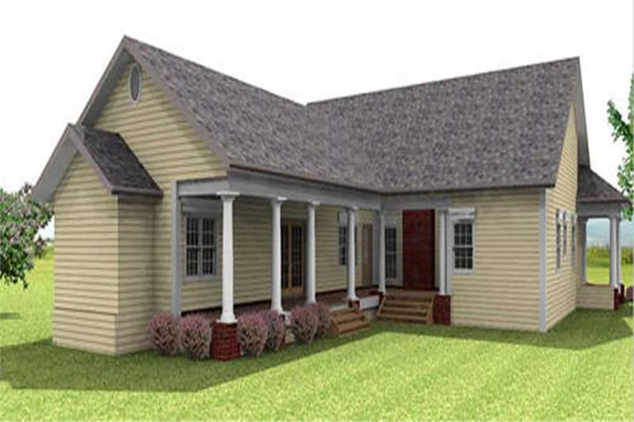 Home Plan Rear Elevation of this 3-Bedroom,2123 Sq Ft Plan -123-1072