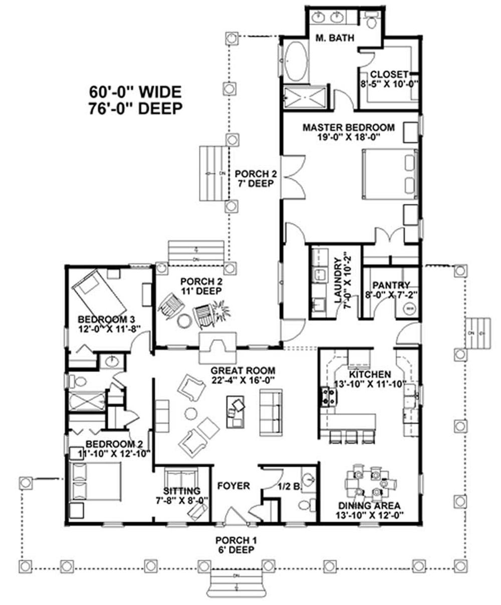House Perspective With Floor Plan Overideas