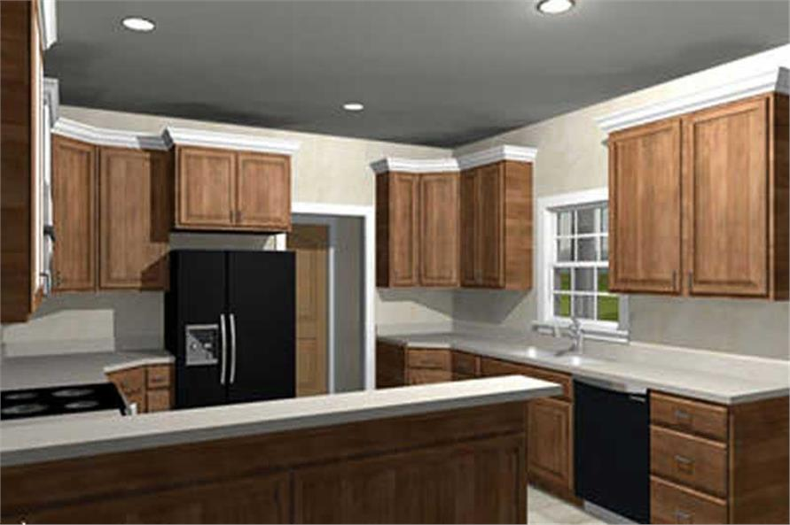 Home Plan 3D Image of this 3-Bedroom,2123 Sq Ft Plan -123-1072