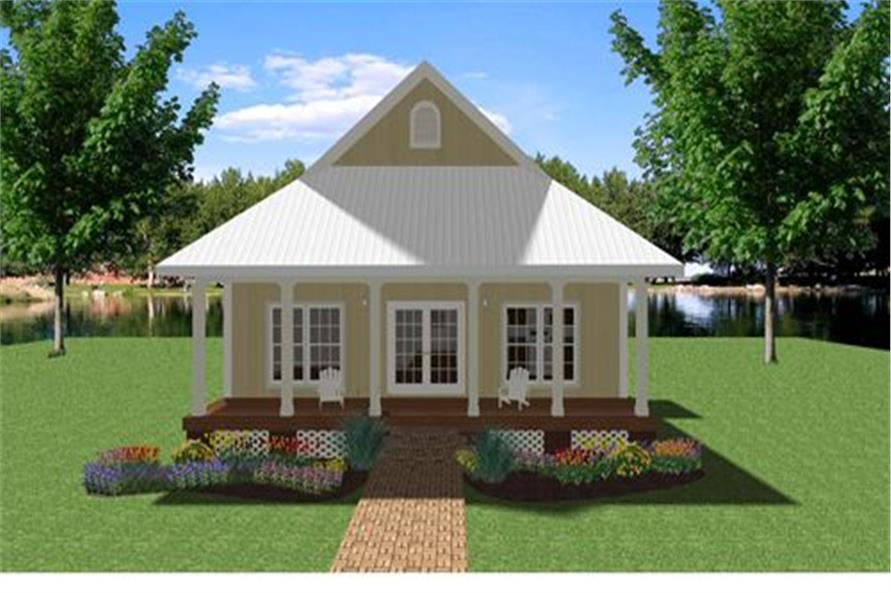 3-Bedroom, 1292 Sq Ft Country House Plan - 123-1073 - Front Exterior