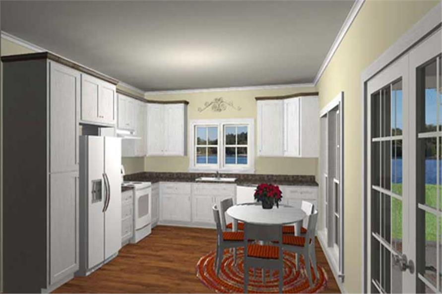 Home Plan 3D Image of this 3-Bedroom,1292 Sq Ft Plan -123-1073