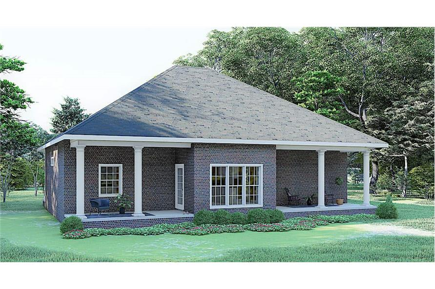 Rear View of this 3-Bedroom,1640 Sq Ft Plan -123-1074