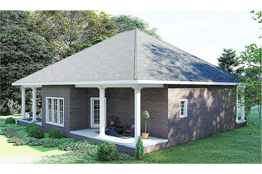 Left View of this 3-Bedroom,1640 Sq Ft Plan -123-1074
