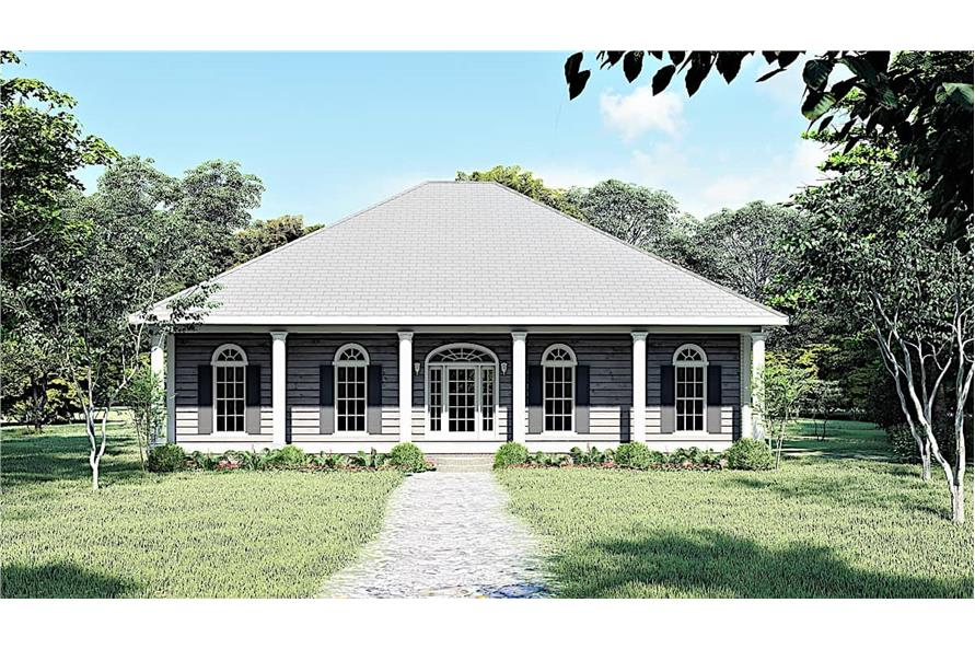 3-Bedroom, 1640 Sq Ft Southern Home - Plan #123-1074 - Main Exterior