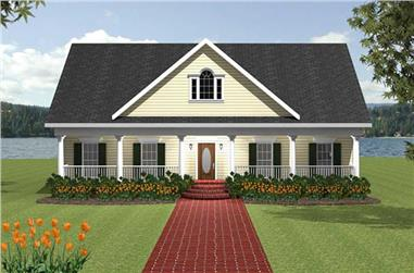 3-Bedroom, 2337 Sq Ft Southern House Plan - 123-1076 - Front Exterior