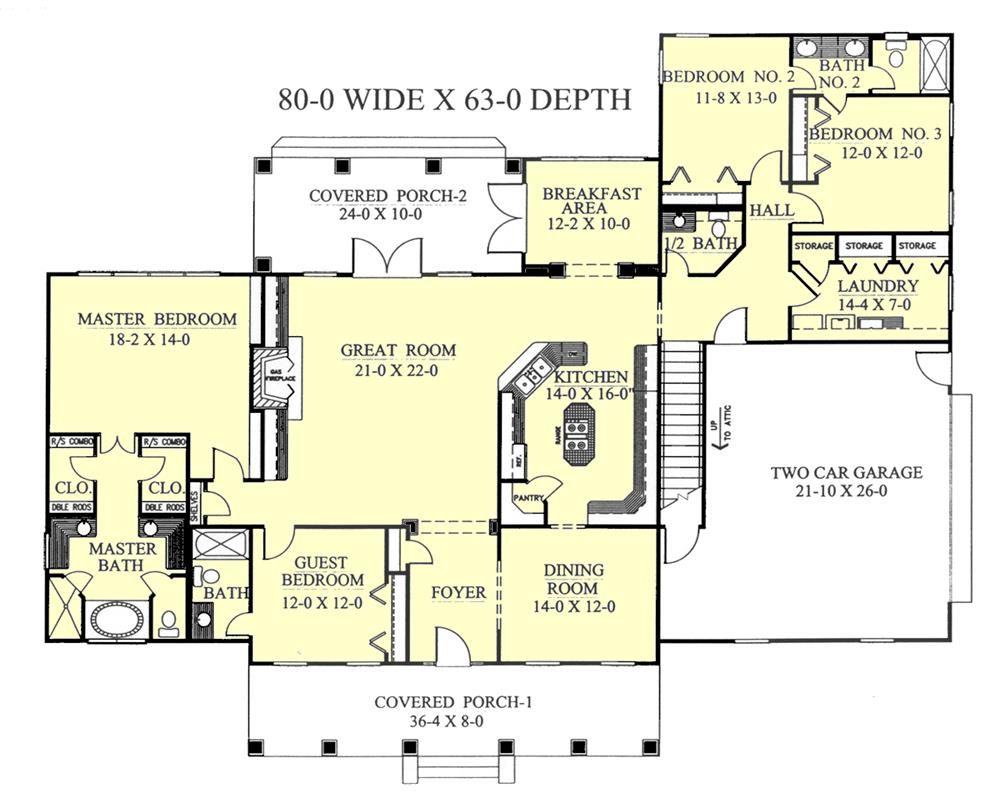 123-1077: Floor Plan Main Level