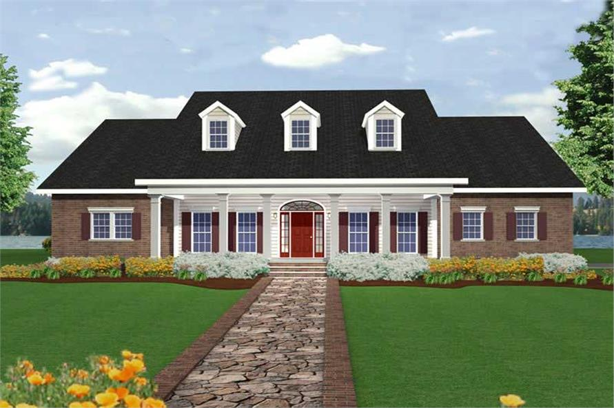 4-Bedroom, 2668 Sq Ft Country Home Plan - 123-1077 - Main Exterior