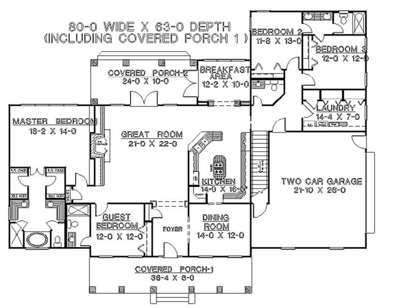 House Plan DH2600 Main Floor Plan