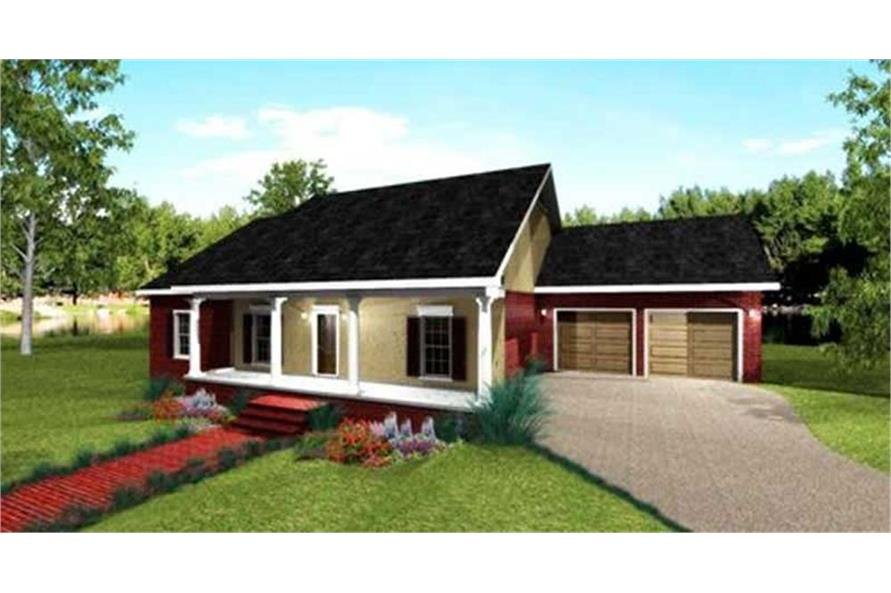 Home Plan Rendering of this 4-Bedroom,1729 Sq Ft Plan -123-1078